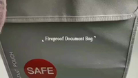 "Fireproof Document Bag 15"" x 11"" Silicone Coated Fire Resistant Money Bag Fireproof Safe Storage Bag"