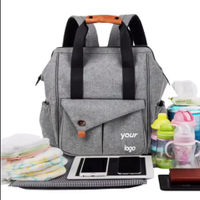 Multi-function Baby Diaper Bag Backpack W/Stroller Straps, Large Capacity Nappy Changing Bag