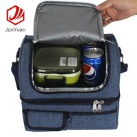 Double Lunch Box Bag Waterproof EVA Insulated Picnic Bag