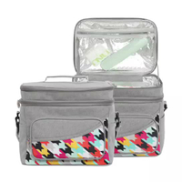Water-resistant Insulated Travel Cooler Tote Box Picnic Lunch Cooler Bag
