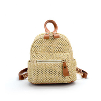 JUNYUAN 2019 Korean Style Straw Hand Bag , Knit Backpack ,Woven Handbags For Women