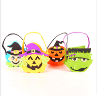JUNYUAN Halloween Felt Cloth Tote Bag Candy Tote Bag For Children