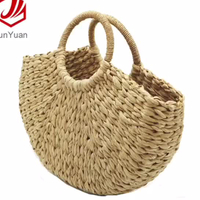 New Circle Basket Bag Straw Beach Women Tote Bag