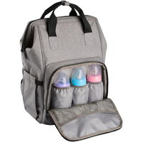 Wide Open Design Baby Diaper Bag Backpack with Changing Pad Insulated Pockets for Both Mom Dad