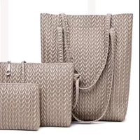 JUNYUAN Fashion New Ladies Handbag Woven Bag Three-piece Tide Handbag