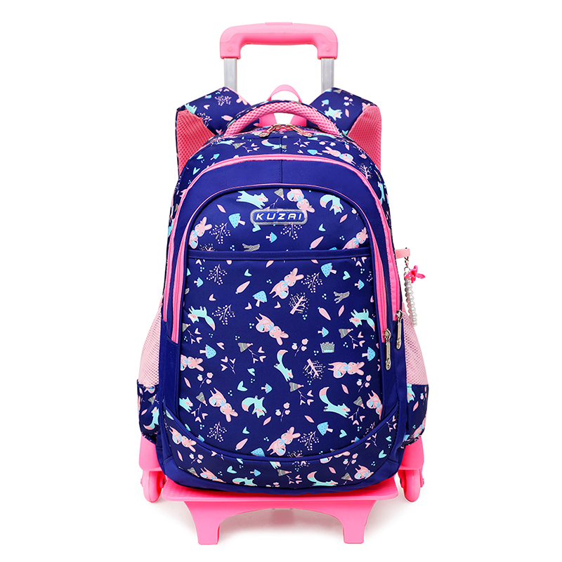 Children Child School Bag Trolley School Bag Detachable Trolley Bag