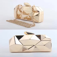 JUNYUAN 2019 New Metal Hand-held Dinner Bag Trend Slanting Chain