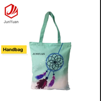 JUNYUAN Trend Personalized Recyclable Organic Cotton Shopping Bag