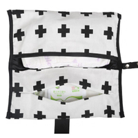 JUNYUAN Cotton Portable Changing Wet Baby Nappy Diaper Storage Bag