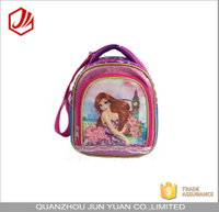 Cute princess custom print girl lunch cooler bag for school kids