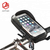 "6"" Waterproof Bicycle Bike Tube Handlebar Touch Screen Phone Holder Bag"