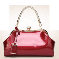 JUNYUAN Wholesale Patent Leather Women Handbags Chinese Suppliers Leather Bag lady handbag