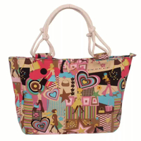 Casual Canvas Tote Bag Female Shoulder Print Cloth Handbags Canvas Bag