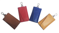 JUNYUAN Men's Multi-function Key Set Storage Bag Leather Wallet