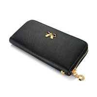 JUNYUAN Woman's Faux Leather Wallet Card Holder Lady's Long Clutch