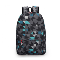 JUNYUAN New Large-Capacity Contrast Color Backpack Multi-Function Student Bag Travel Bag