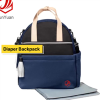 High Quality Waterproof Mummy Baby Bag Multi-function Neoprene Diaper Bag Backpack with Changing Mat