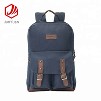 2018 New design leisure cotton canvas backpack for girls, vintage cotton bagpack
