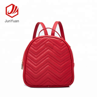 2018 New PU Leather Girl Backpack Student Casual Baypack Shoulder Bag