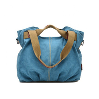 JUNYUAN Women's Casual Vintage Canvas Top Handle Shoulder Tote Handbag