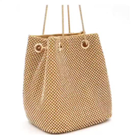 JUNYUAN 2019 New Fashion Handbag Women Hand Bags , Bucket Bag Diamond Party Evening Bag