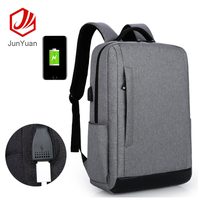 Fashion Nylon Laptop Backpack Business Backpack With USB Charger Port