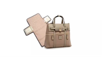 Diaper Bag by JUNYUAN Leather Three Methods Of Use Diaper Bag Backpack for Women Man